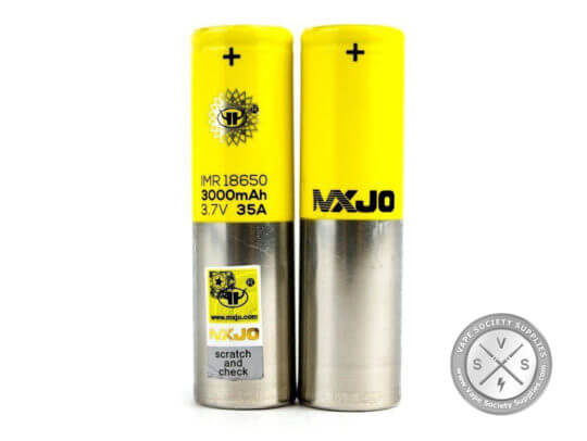 MXJO 18650 3000mAh 35A Flat Top Battery 1 Single MXJO Battery